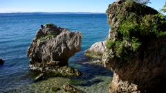 Miramare beach near Trieste, Italy Stock Footage