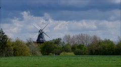 Windmill Westeraccum in East Friesland in timelapse Stock Footage