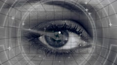 Compass shape with eye Stock Footage