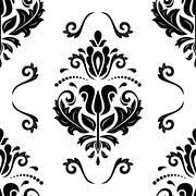 Seamless Vector Damask Pattern Stock Illustration