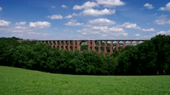 Goltzsch valley bridge in Vogtland, Saxony Stock Footage