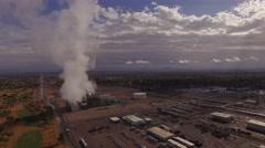4K Aerial Arizona Water Treatment Facility Sunrise Stock Footage