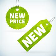 New price labels Stock Illustration