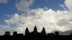 TIMELAPSE Clouds over Angkor Wat,Siem Reap,Cambodia Stock Footage