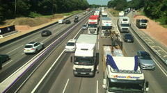 Time lapse of a traffic jam at the M1 M45 motorway junction. Stock Footage