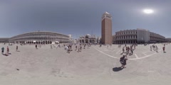 Piazza San Marco and Doge palace in Venice, Italy, 360 VR video Stock Footage