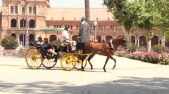 The carriage in Seville Stock Footage
