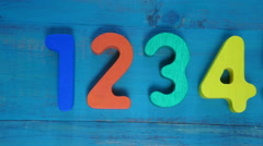 Preschool learn to count numbers from one to ten Stock Footage