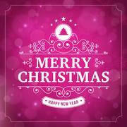 Merry christmas vintage curl violet  background Stock Illustration
