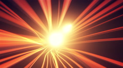 Glowing wavy elegant light streaks and lines with flares 4K Stock Footage
