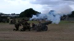 Field Guns Firing Stock Footage