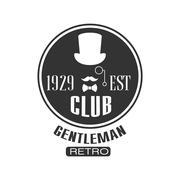 Retro Gentleman Club Label Design - stock illustration