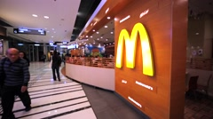 McDonalds cafe in the Hong Kong mall. Stock Footage