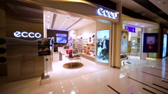 Ecco store in Hong Kong mall. Stock Footage
