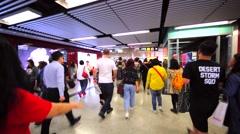 Hong Kong subway. MTR of Hong Kong now includes 155 stations Stock Footage