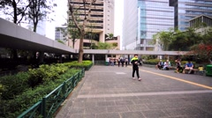 Beautiful green promenade area. Stock Footage