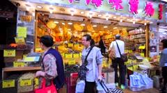 Chinese fish market in Hong Kong. Stock Footage