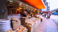 Chinese market in Hong Kong. Stock Footage