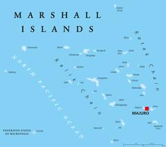 Marshall Islands Political Map Stock Illustration