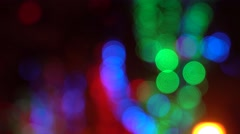 Colorful Natural Bokeh Stock Footage
