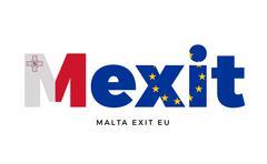 MEXIT - Malta exit from European Union on Referendum Stock Illustration