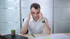 The man shouting in the office Stock Footage