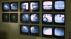 Security Cam Monitors, Güvenlik Kamerası Monitörleri Stock Footage