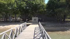4k Arrival entry Komodo island national park Stock Footage