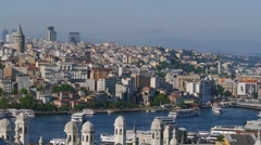 Golden Horn Bay. Istanbul Stock Footage