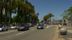 Summer day san francisco embarcadero traffic bay panorama 4k usa Stock Footage