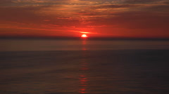 Beautiful Atlantic Ocean Sunrise. Stock Footage