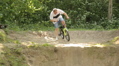 BMXer Exteme Sport Crash Dirt Jump Stock Footage