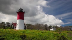 Nauset Light Lighthouse in Eastham Stock Footage