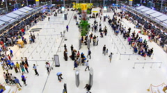 Suvarnabhumi Internationa Airport Of Thailand (blurred background, zoom out) Stock Footage