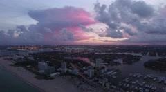 Aerial of beautiful cityscape, Florida Arkistovideo