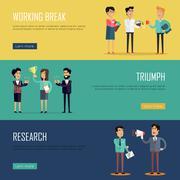 Social Teamwork Concept. Website Design Template - stock illustration