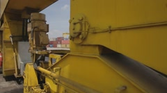 Crane With Wheels On Rail Stock Footage