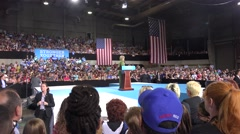 """Hillary Clinton At Rally with audio  (Trump's """"I Alone"""" Comment) 01 Stock Footage"""