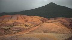 Seven coloured earth dunes,Mauritius Stock Footage