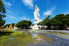 Budddha statues at Wat Phai Rong Wua, Suphanburi Stock Photos