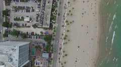 Aerial of vehicles moving on road, Florida Stock Footage