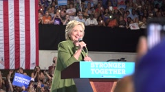 Hillary Clinton At Rally In Tampa Florida with audio Winning In November Stock Footage