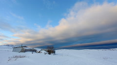 Sunset on the Barents Sea. Teriberka, Murmansk region, Russia. Full HD Stock Footage