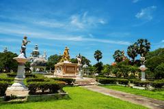Sithata buddha monument at Wat Phai Rong Wua Stock Photos