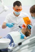 Girl in dentistry - stock photo