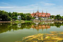Wat Phai Rong Wua, Suphanburi Stock Photos