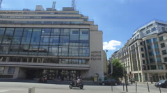 Agence France Presse - Building in Downtown Paris France Stock Footage