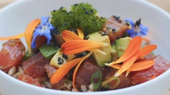 Tuna Poke Stock Footage