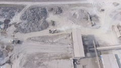 Aerial view of open pit sand quarries.  View from above. Stock Footage