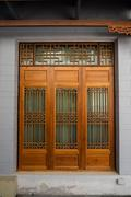 Wooden door by Chinese Style, Architecture design - stock photo